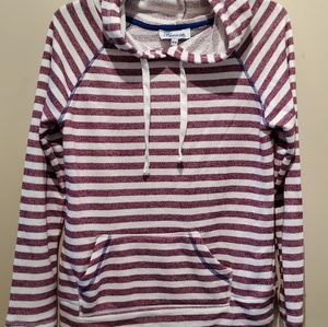 🌼3/25 cute striped hoodie szM